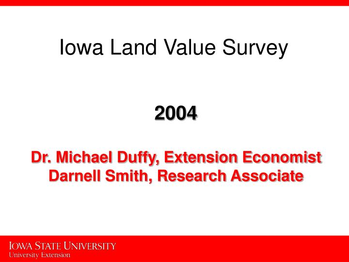 Iowa Land Value Survey