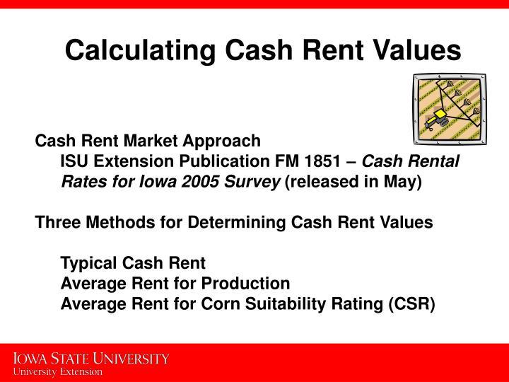 Calculating Cash Rent Values
