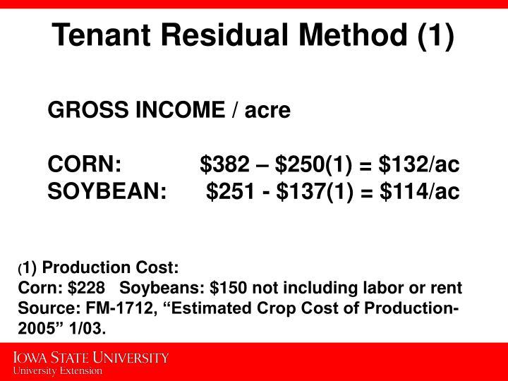 Tenant Residual Method (1)