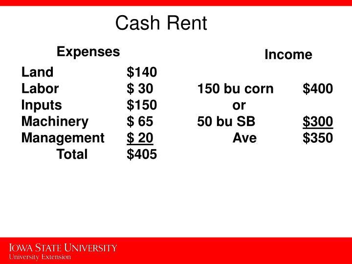 Cash Rent
