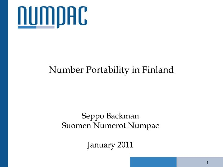Number portability in finland