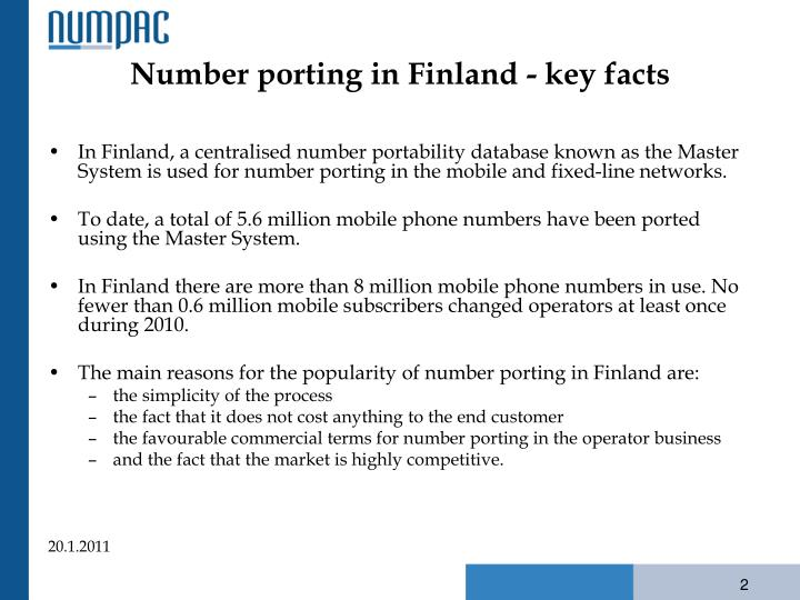 Number porting in finland key facts
