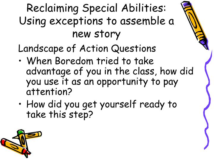 Reclaiming Special Abilities: