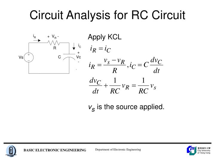 Circuit Analysis for RC Circuit