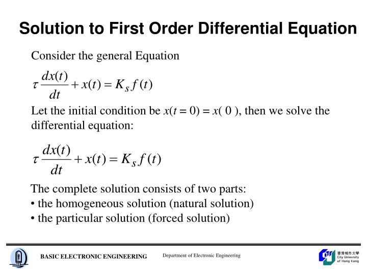 Solution to First Order Differential Equation