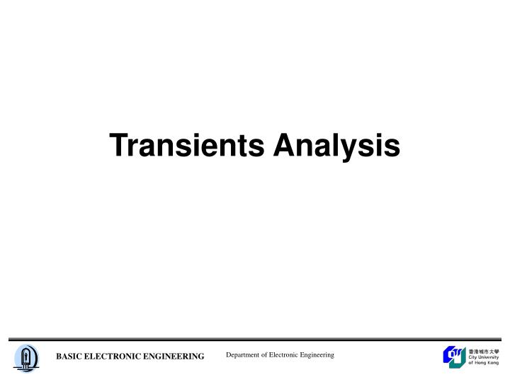 Transients analysis