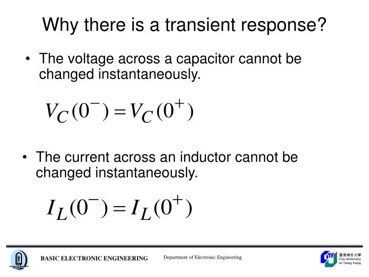 Why there is a transient response?