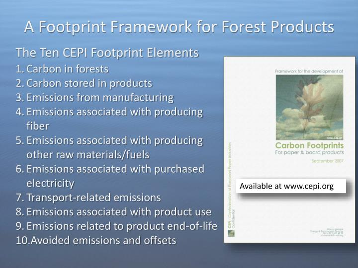 A Footprint Framework for Forest Products