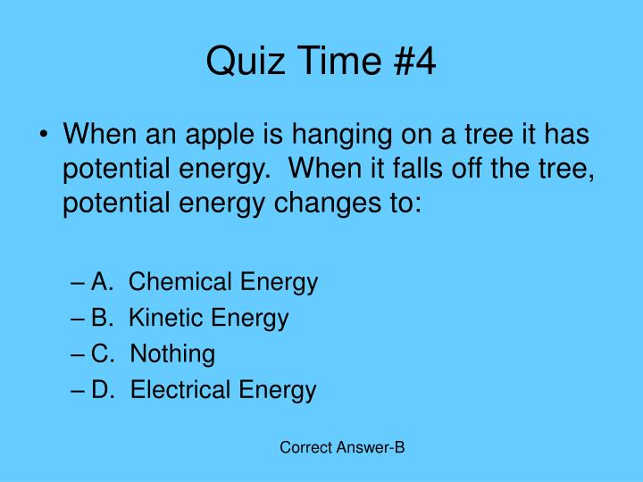 Quiz Time #4