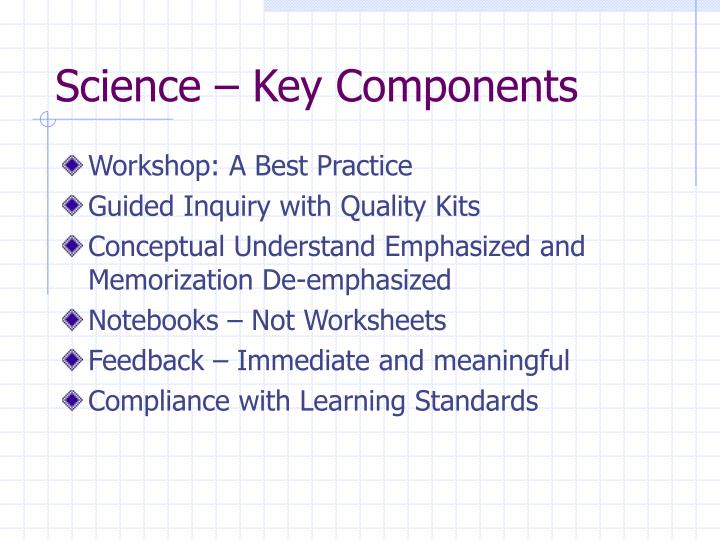 Science – Key Components