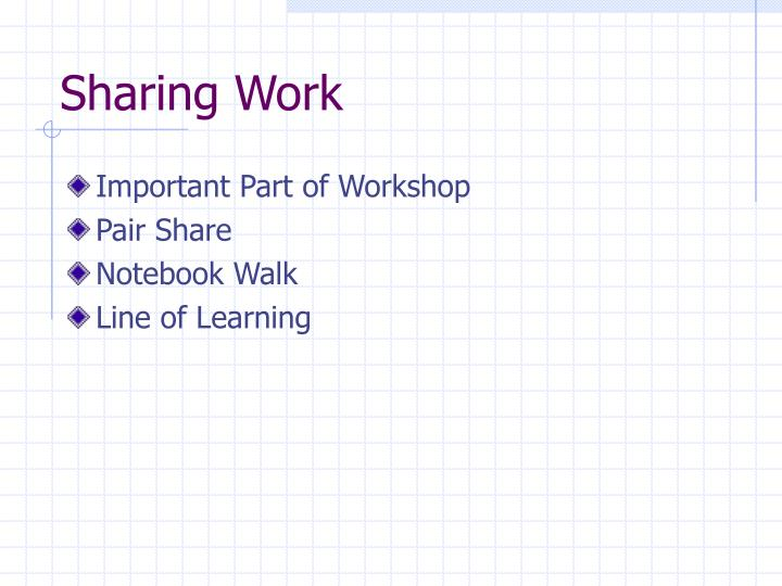 Sharing Work