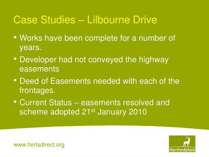 Case Studies – Lilbourne Drive