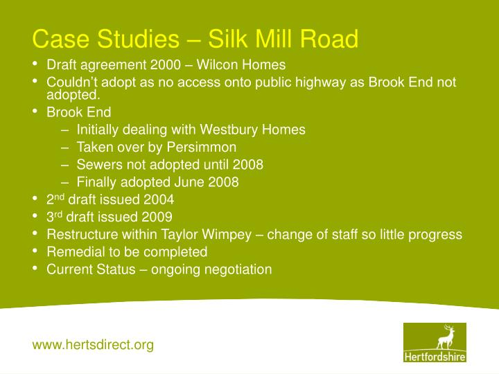 Case Studies – Silk Mill Road