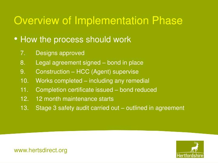 Overview of Implementation Phase