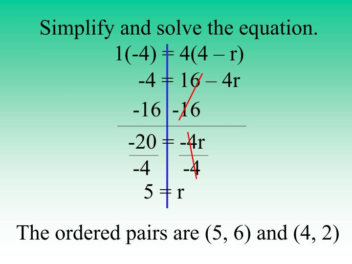 Simplify and solve the equation.