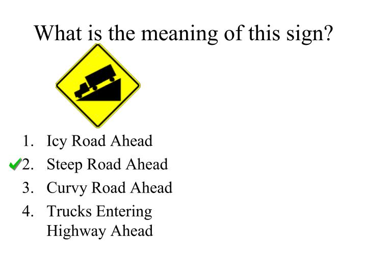 What is the meaning of this sign?