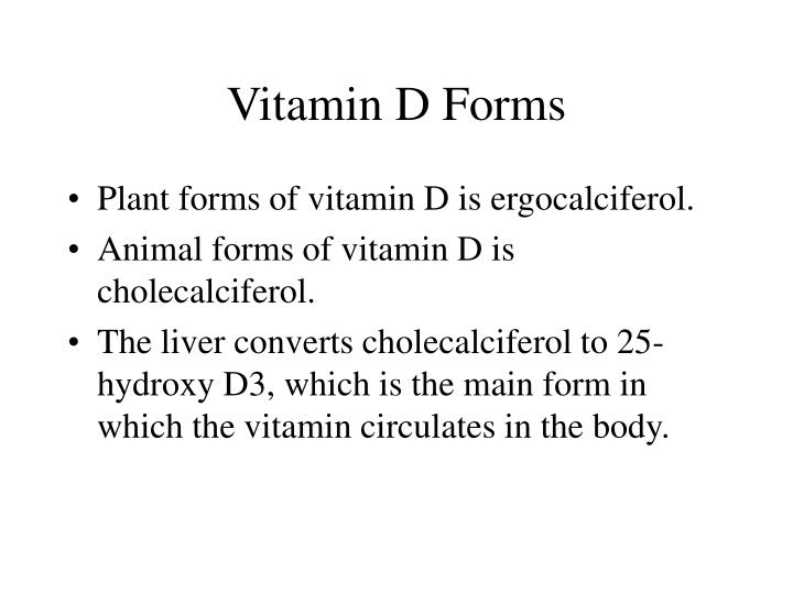 Vitamin D Forms
