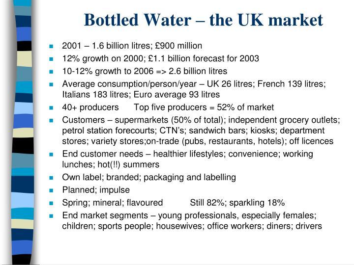 Bottled Water – the UK market
