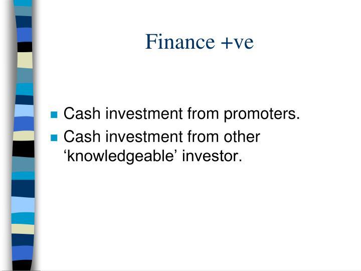 Finance +ve