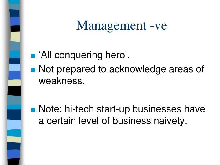 Management -ve
