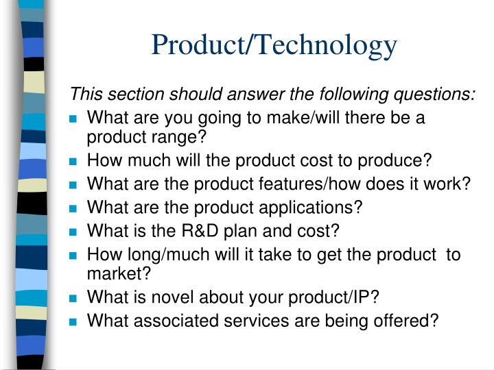 Product/Technology