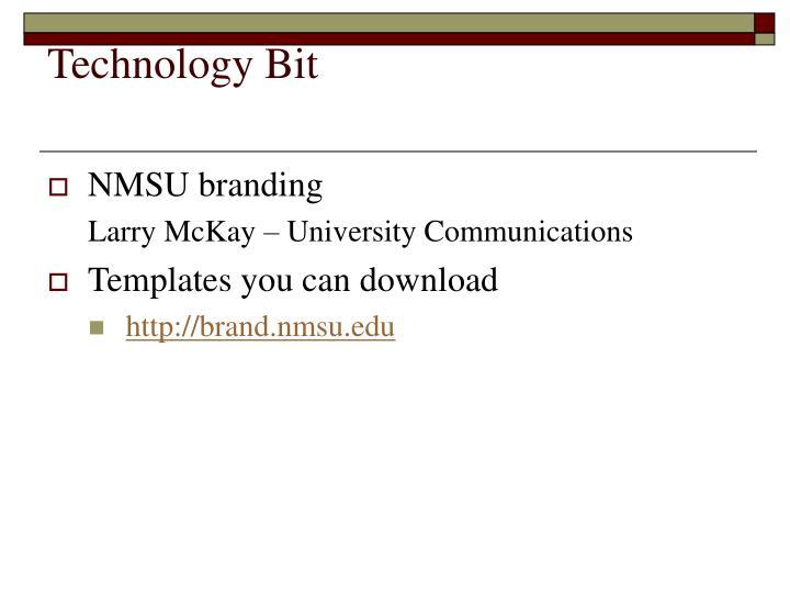 Technology Bit