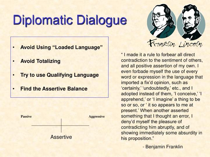 Diplomatic Dialogue