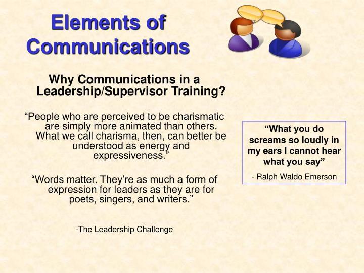 Elements of Communications
