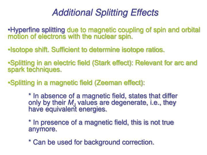 Additional Splitting Effects