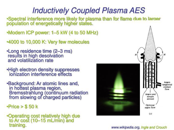 Inductively Coupled Plasma AES