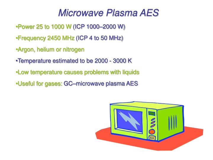 Microwave Plasma AES