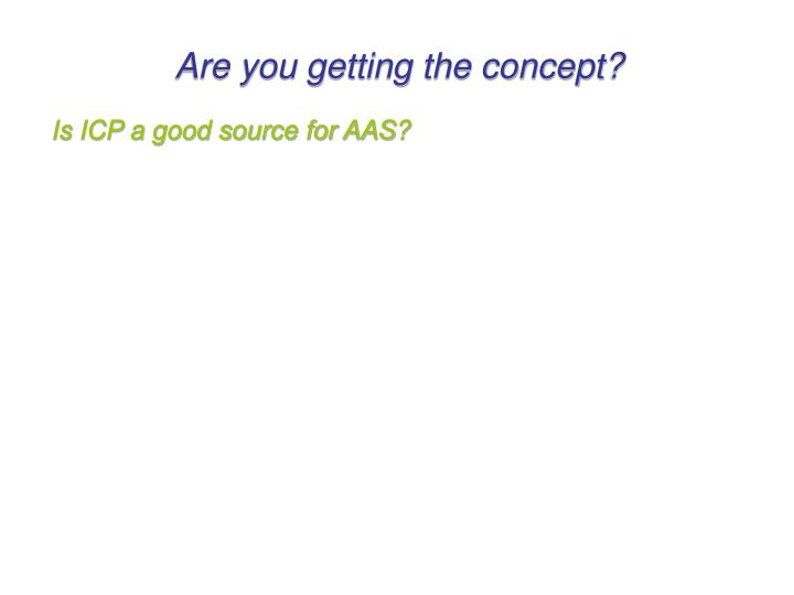 Are you getting the concept?