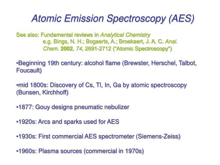 Atomic Emission Spectroscopy (AES)