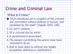 crime and criminal law1