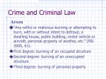 crime and criminal law37