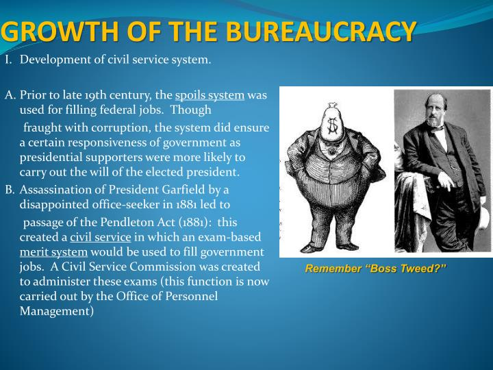 GROWTH OF THE BUREAUCRACY