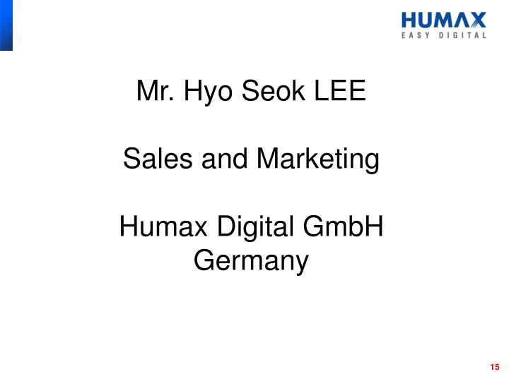 Mr. Hyo Seok LEE