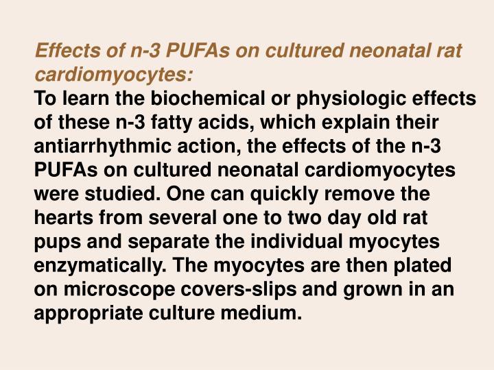 Effects of n-3 PUFAs on cultured neonatal rat cardiomyocytes: