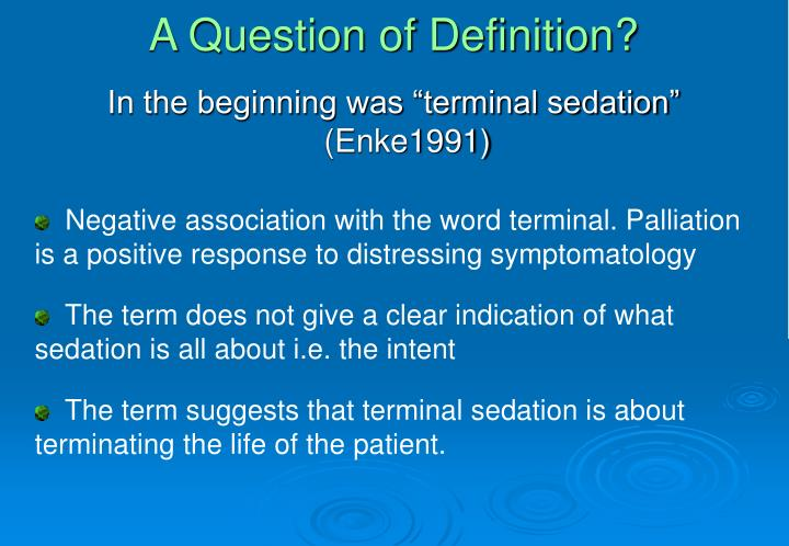 A Question of Definition?