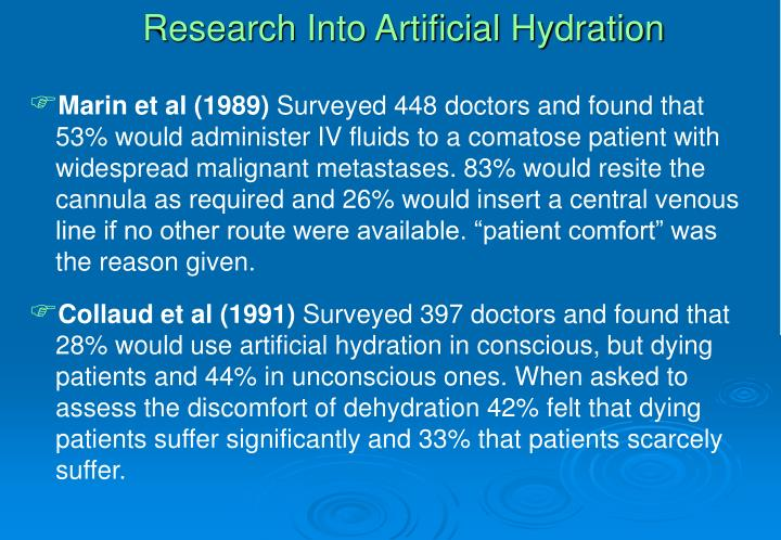 Research Into Artificial Hydration