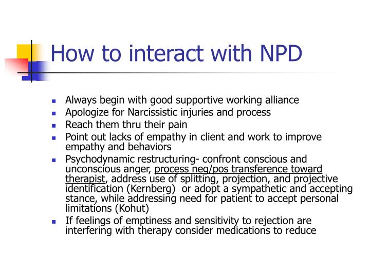 How to interact with NPD