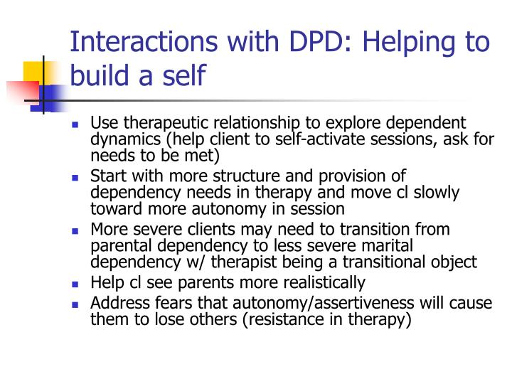 Interactions with DPD: Helping to build a self