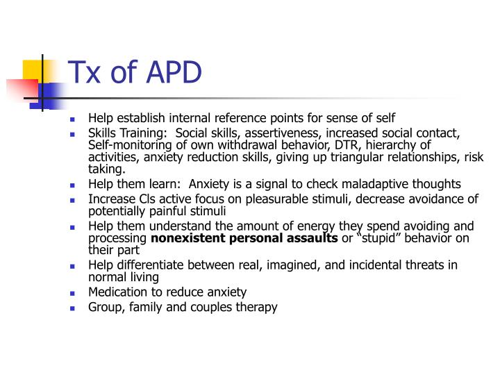 Tx of APD