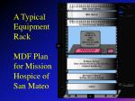 a typical equipment rack mdf plan for mission hospice of san mateo