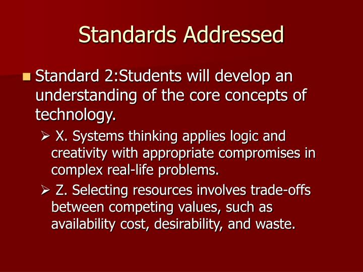 Standards Addressed