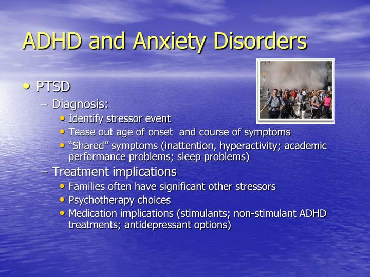 ADHD and Anxiety Disorders