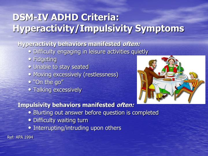 DSM-IV ADHD Criteria: