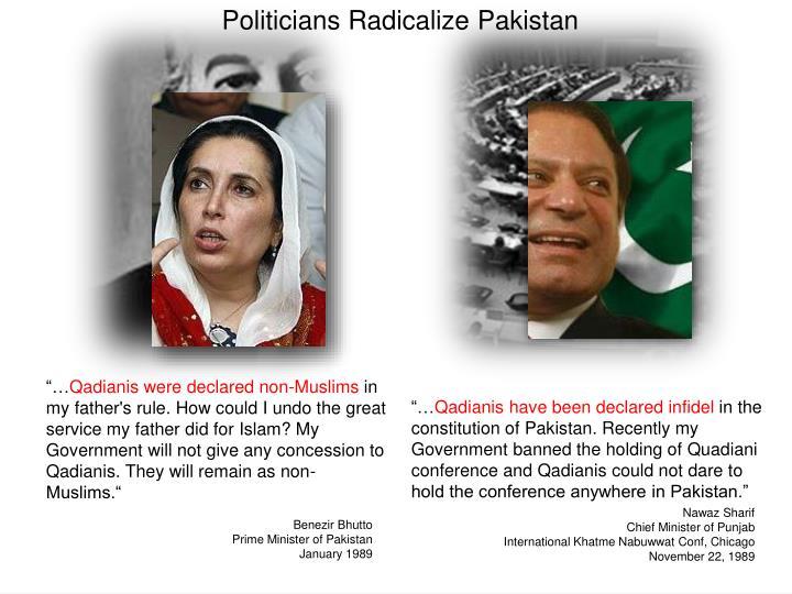 Politicians Radicalize Pakistan
