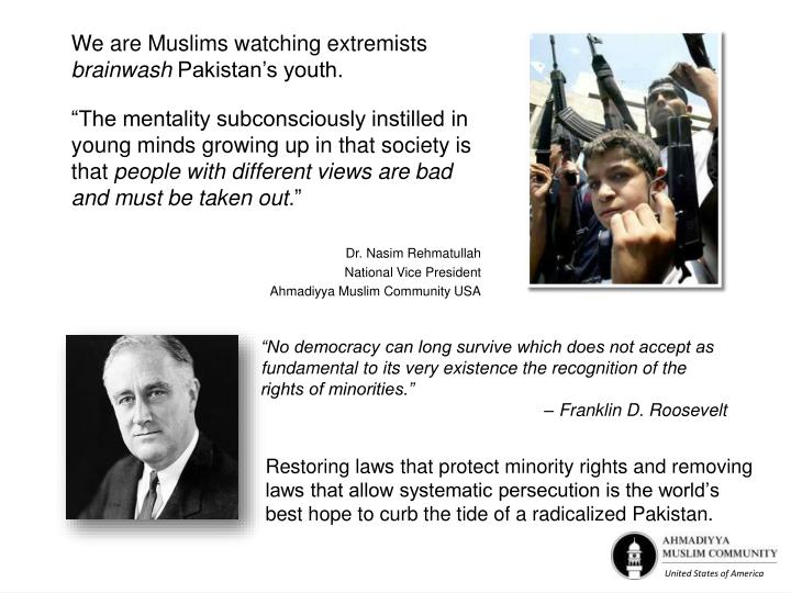 We are Muslims watching extremists