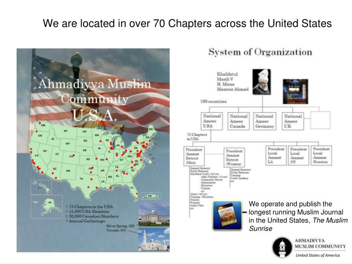 We are located in over 70 Chapters across the United States